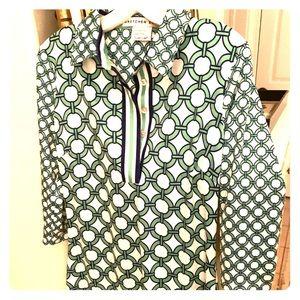 New Gretchen Scott Tunic dress M- blue white green
